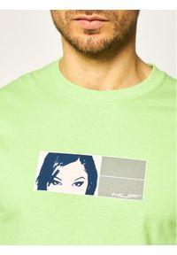 HUF Bluza Wonderland TS01003 Zielony Regular Fit. Kolor: zielony