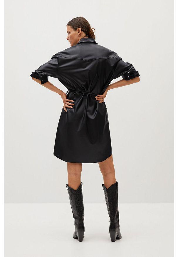 Czarna sukienka mango casualowa, mini