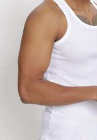 Born2be - Biała Top Crephypso. Kolor: biały. Materiał: bawełna. Długość rękawa: bez rękawów #3