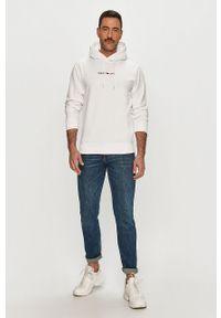Biała bluza nierozpinana Tommy Jeans na co dzień, z aplikacjami