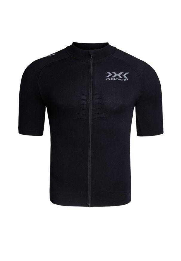 Czarna koszulka termoaktywna X-Bionic długa, na fitness i siłownię