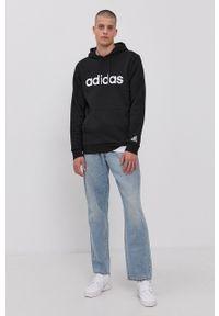 Adidas - adidas - Bluza. Okazja: na co dzień. Kolor: czarny. Materiał: bawełna, poliester. Styl: casual