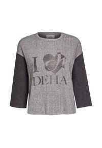 Deha - Bluza DEHA EXPRESSION. Materiał: tkanina. Wzór: jodełka, aplikacja, nadruk