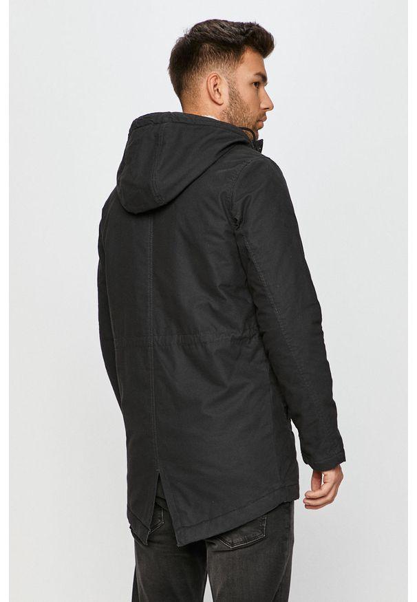Czarna kurtka PRODUKT by Jack & Jones z kapturem, na co dzień, casualowa