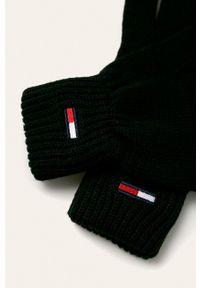 Czarne rękawiczki Tommy Jeans