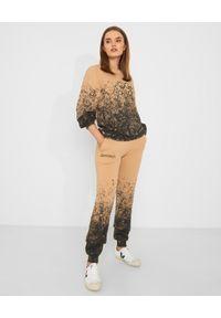 CHAOS BY MARTA BOLIGLOVA - Beżowe spodnie dresowe z bawełny DIRTY. Stan: podwyższony. Kolor: beżowy. Materiał: bawełna, dresówka