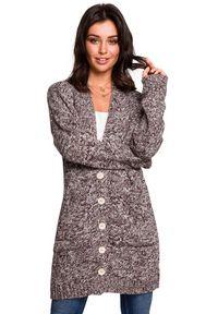 Sweter długi, melanż