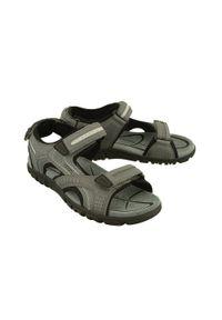 Szare sandały Geox na rzepy