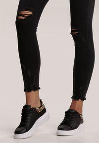 Renee - Czarne Jeansy Skinny Wynrie. Kolor: czarny