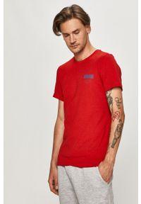 Czerwony t-shirt s.Oliver z aplikacjami, casualowy, na co dzień
