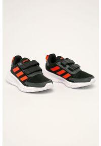 Czarne buty sportowe Adidas do biegania, na rzepy, z okrągłym noskiem, z cholewką