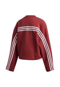 Adidas - Bluza damska adidas 3-Stripes Doubleknit GC6944. Materiał: materiał, dzianina, skóra, poliester. Wzór: ze splotem, paski. Sport: fitness