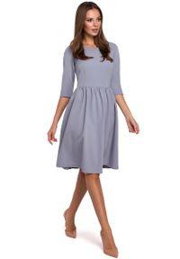 Szara sukienka rozkloszowana MAKEOVER