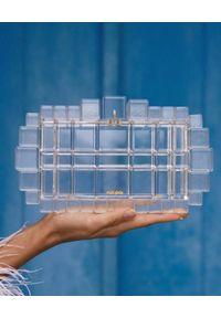 CULT GAIA - Transparentna torebka Eden. Wzór: geometria, nadruk. Styl: wizytowy