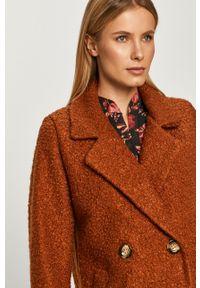Brązowy płaszcz Haily's bez kaptura, klasyczny, na co dzień