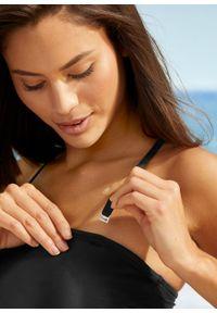 Czarny strój kąpielowy jednoczęściowy bonprix do noszenia na różne sposoby
