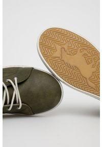 Mustang - Trampki. Nosek buta: okrągły. Kolor: zielony. Materiał: guma