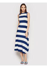 Polo Ralph Lauren Sukienka codzienna 211827941001 Niebieski Regular Fit. Okazja: na co dzień. Typ kołnierza: polo. Kolor: niebieski. Typ sukienki: proste. Styl: casual