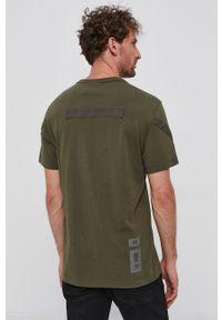 G-Star RAW - G-Star Raw - T-shirt bawełniany. Okazja: na co dzień. Kolor: zielony. Materiał: bawełna. Styl: casual