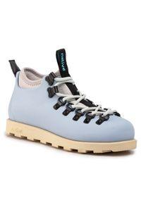 Niebieskie buty trekkingowe Native klasyczne, z cholewką