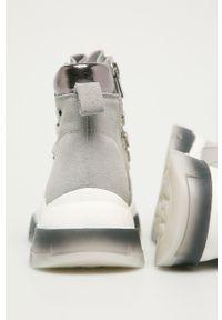 Szare buty sportowe Big-Star z okrągłym noskiem, z cholewką
