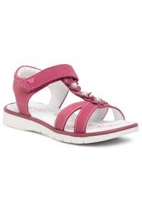 Różowe sandały Lasocki Kids z aplikacjami, na lato