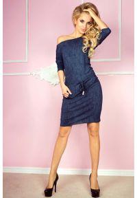Niebieska sukienka Numoco sportowa, sportowa