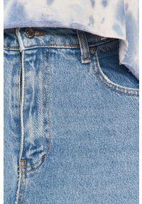 Niebieskie jeansy Answear Lab wakacyjne, z podwyższonym stanem