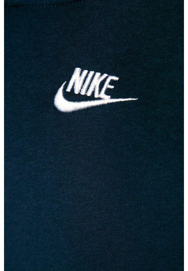 Niebieska bluza Nike Kids casualowa, z kapturem, na co dzień