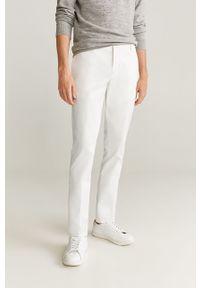Białe spodnie Mango Man