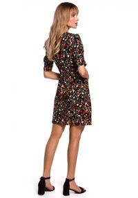 Sukienka MOE dopasowana, z krótkim rękawem, na lato