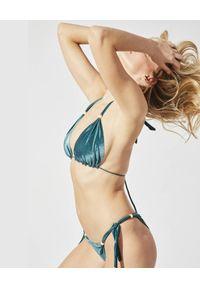 PRAIA BEACHWEAR - Welurowe bikini Sparkle. Kolor: zielony. Materiał: welur