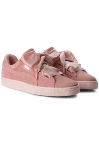 Różowe buty sportowe Puma z cholewką, Puma Suede
