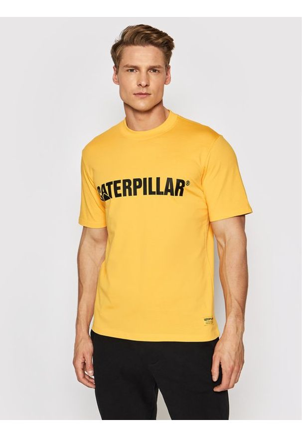 CATerpillar T-Shirt 2511242 Żółty Regular Fit. Kolor: żółty