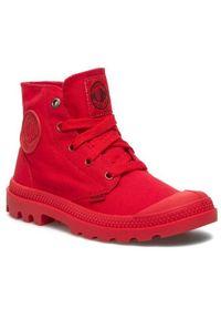 Czerwone buty zimowe Palladium z cholewką