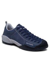 Niebieskie buty trekkingowe Scarpa trekkingowe