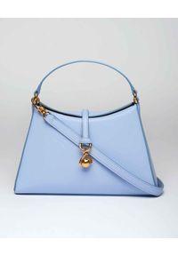 NANUSHKA - Niebieska torebka Noya. Kolor: niebieski. Rodzaj torebki: na ramię