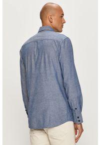Niebieska koszula Guess Jeans casualowa, z klasycznym kołnierzykiem