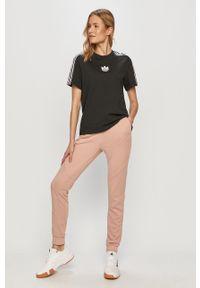 Różowe spodnie dresowe Noisy may