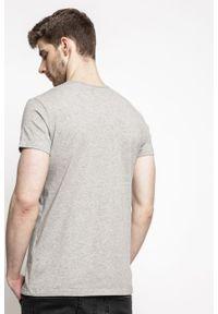 Szary t-shirt Pepe Jeans casualowy, z okrągłym kołnierzem