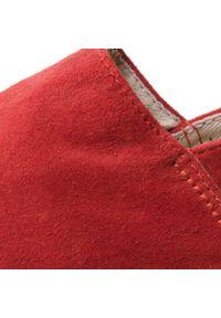 Czerwone półbuty Espadrilles z cholewką, casualowe, na co dzień #7