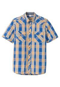 Żółta koszula bonprix z krótkim rękawem, krótka