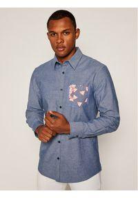 Niebieska koszula casual Guess