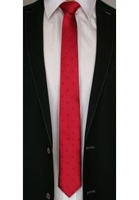 Czerwony krawat Angelo di Monti elegancki, w kwiaty