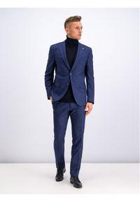 Niebieskie spodnie garniturowe Digel