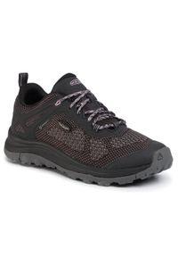 Czarne buty trekkingowe keen trekkingowe, z cholewką