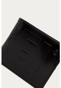 Czarny portfel Diesel gładki