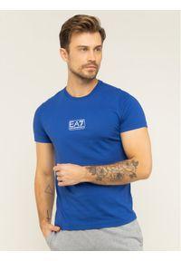 Niebieski t-shirt EA7 Emporio Armani