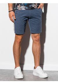 Niebieskie szorty Ombre Clothing eleganckie, krótkie