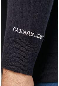 Niebieski sweter Calvin Klein Jeans długi, na co dzień
